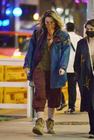 Paris Jackson - Leaves Rocco's tavern in West Hollywood
