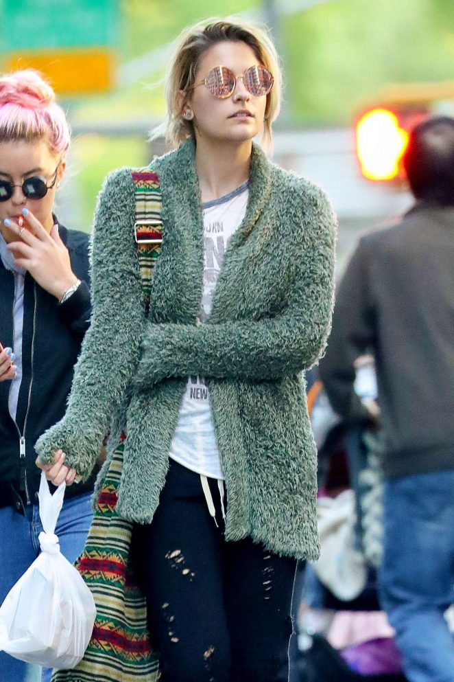 Paris Jackson out for lunch in New York