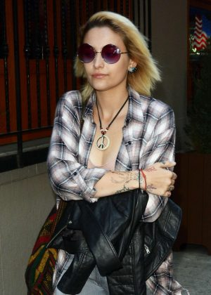 Paris Jackson out in New York City