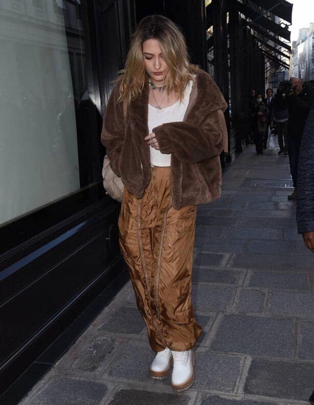 Paris Jackson - Seen out and about during Paris Fashion Week
