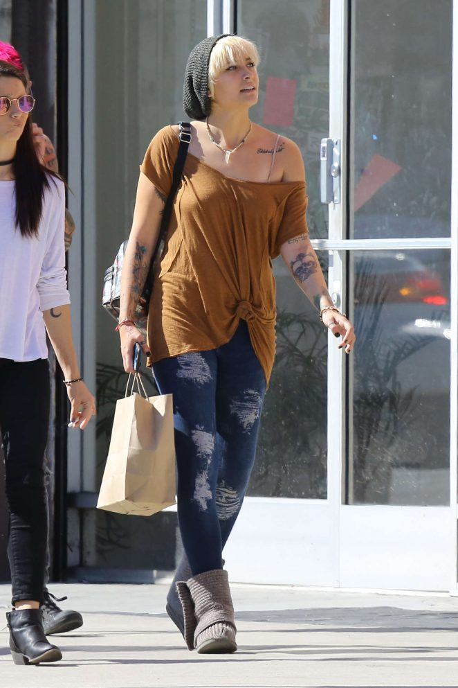 Paris Jackson Shopping on Melrose in West Hollywood