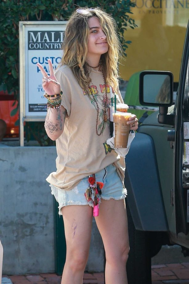 Paris Jackson - Stops at Starbucks in Malibu