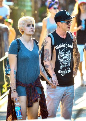 Paris Jackson with her boyfriend at Disneyland in Anaheim