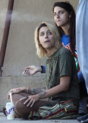 Paris Jackson with her friends out in Van Nuys