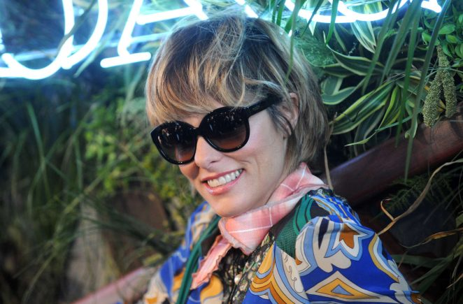 Parker Posey: Coach and Friends of the Highline Summer Party -05