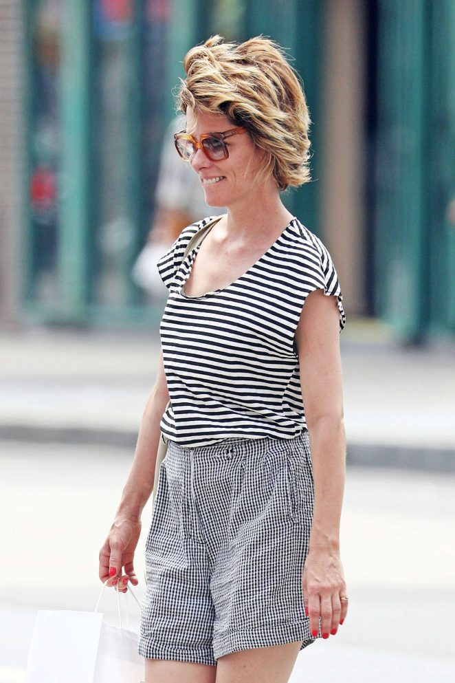 Parker Posey out at West Village in NYC