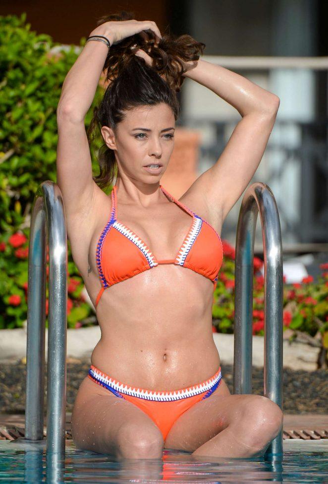 Pascal Craymer in Bikini at a pool in Tenerife