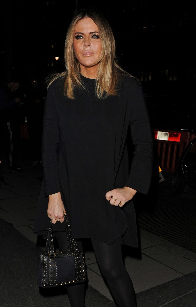 Patsy Kensit - Giles Deacon Fashion Show 2015 in London