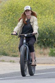 Patsy Palmer - Bike Riding in Malibu