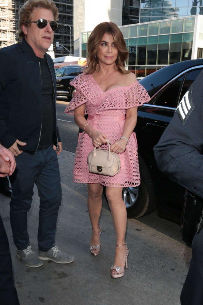 Paula Abdul - Arrives to Hamilton Opening Night in Hollywood