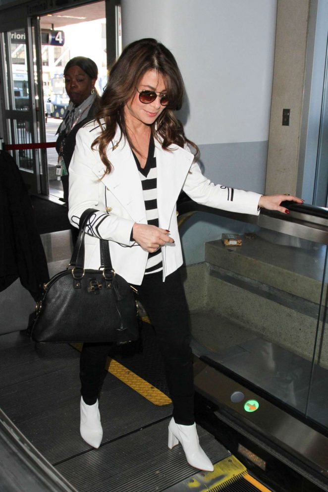 Paula Abdul - Arriving at LAX Airport in Los Angeles