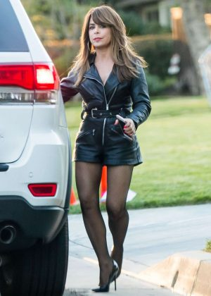 Paula Abdul - Filming Untitled Kourtney Kang Project in Los Angeles