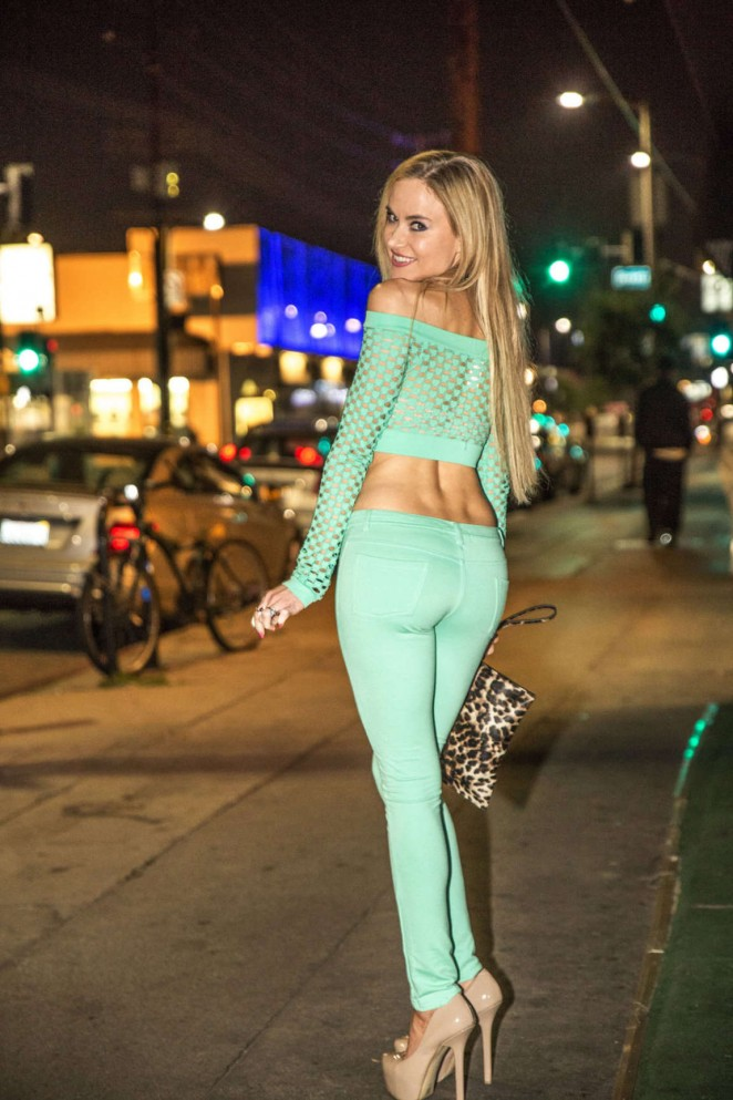 Paula Labaredas Night Out in West Hollywood -06