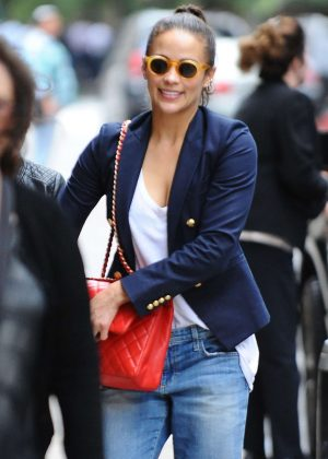 Paula Patton Arrives at her hotel in New York