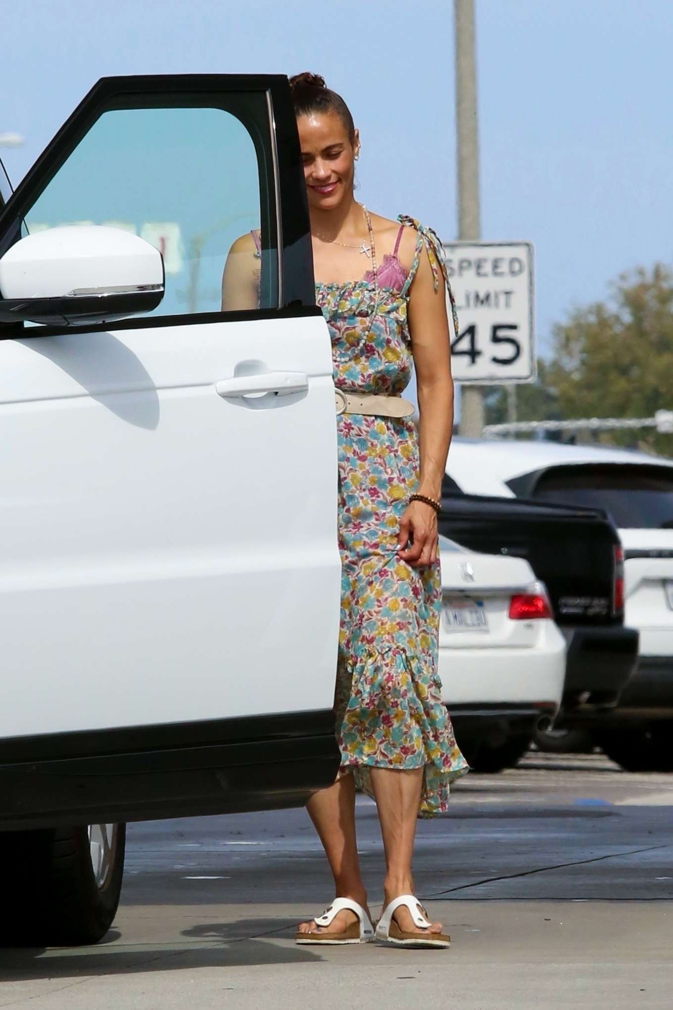 Paula Patton 2019 : Paula Patton in Floral Summer Dress-08