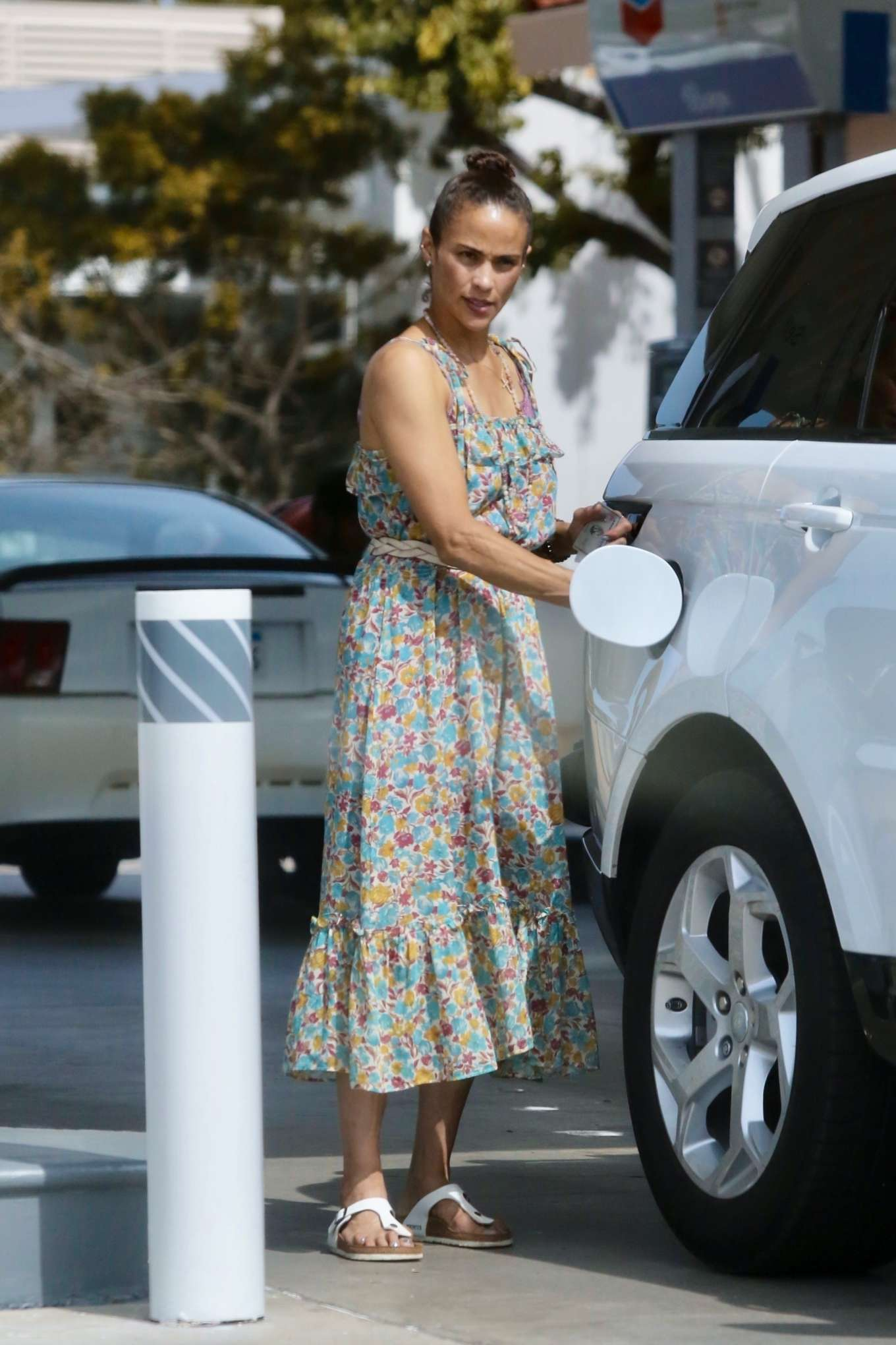 Paula Patton 2019 : Paula Patton in Floral Summer Dress-11