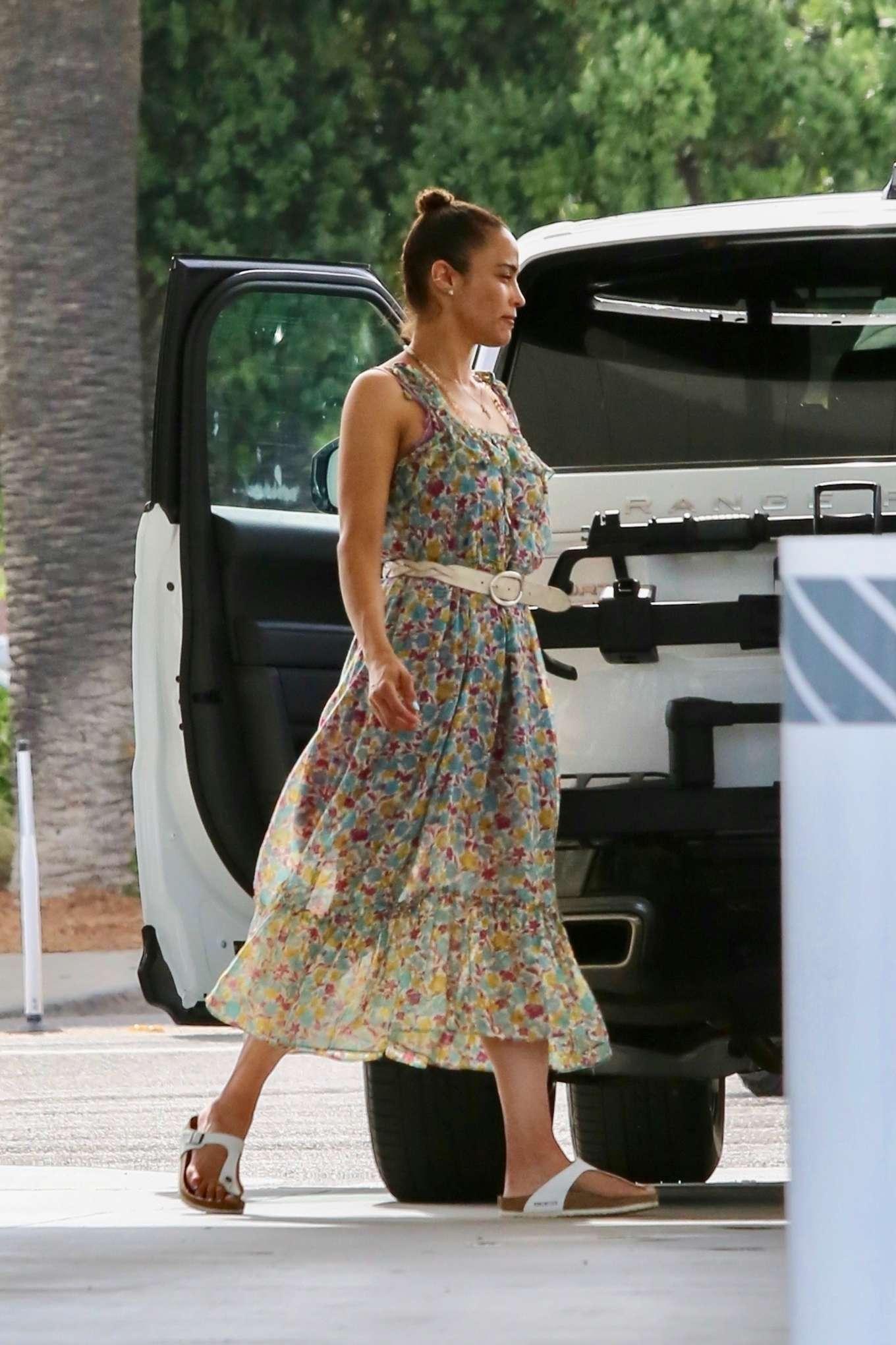 Paula Patton 2019 : Paula Patton in Floral Summer Dress-13