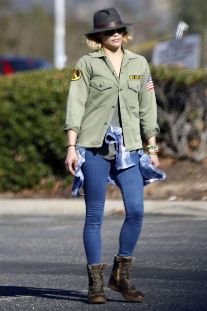 Paula Patton in Jeans Out in Malibu