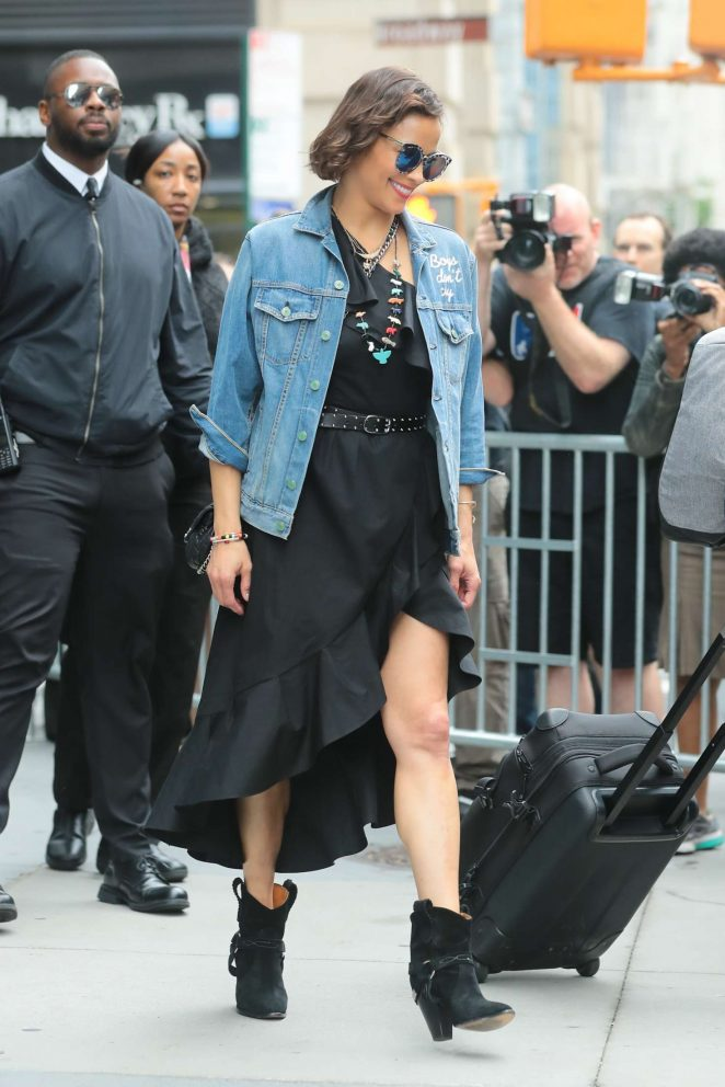 Paula Patton - Leaves AOL Build Series in New York City