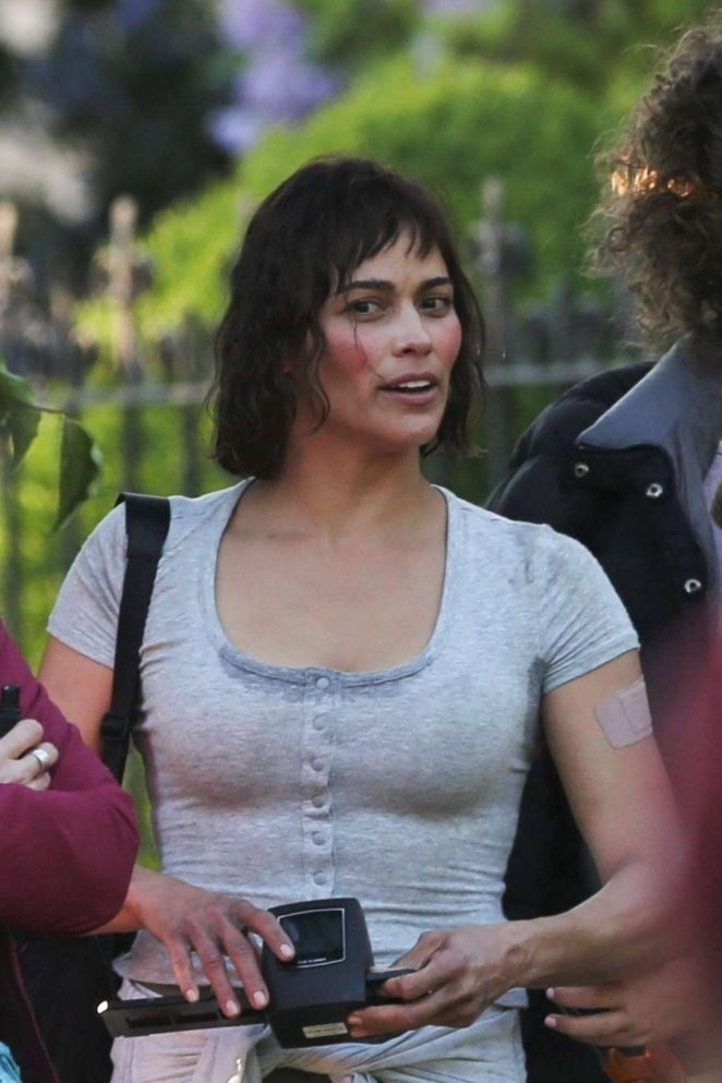 Paula Patton on Somwhere Between set -01