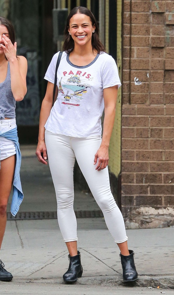 Paula Patton in Tight Jeans Out in NYC