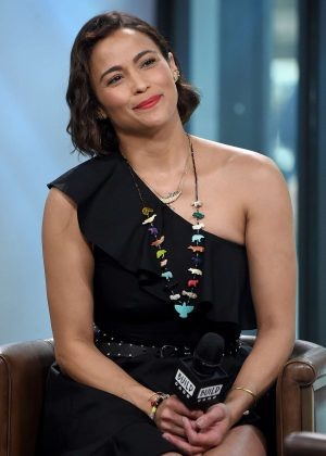 Paula Patton visits AOL Build Studio in NYC