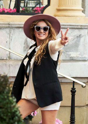 Paulina Rubio - Arriving at Maria Cristina Hotel in San Sebastian