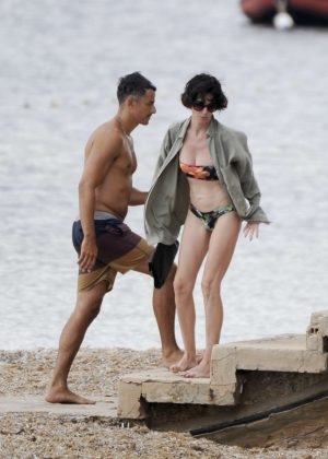 Paz Vega in Bikini on the beach in Ibiza