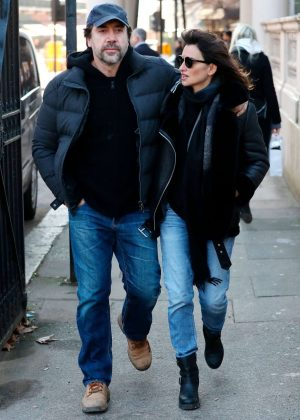 Penelope Cruz and Javier Bardem out and about in London