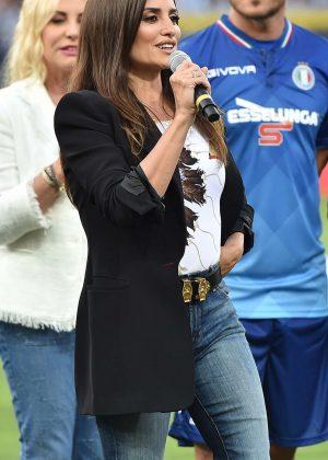 Penelope Cruz at the Marassi stadium in Genoa