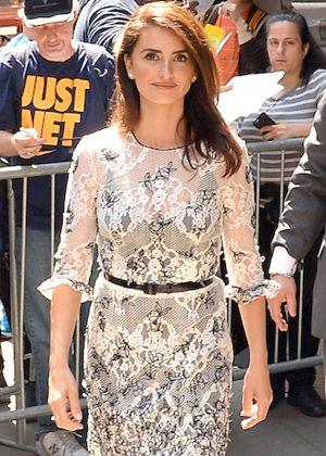 Penelope Cruz Leaving Good Morning American in NY