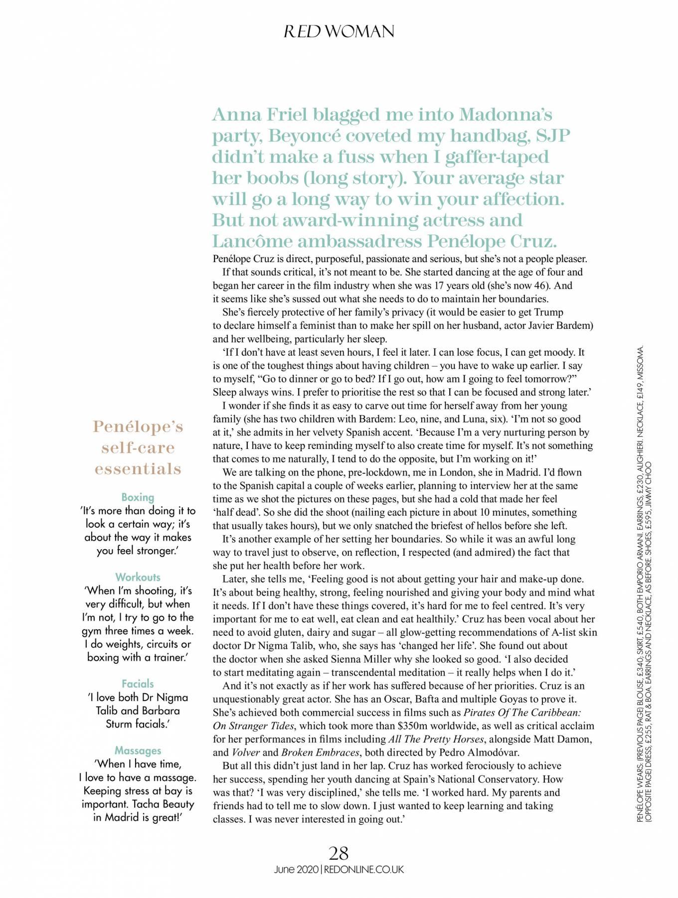 Penelope Cruz 2020 : Penelope Cruz – Red UK Magazine 2020-04