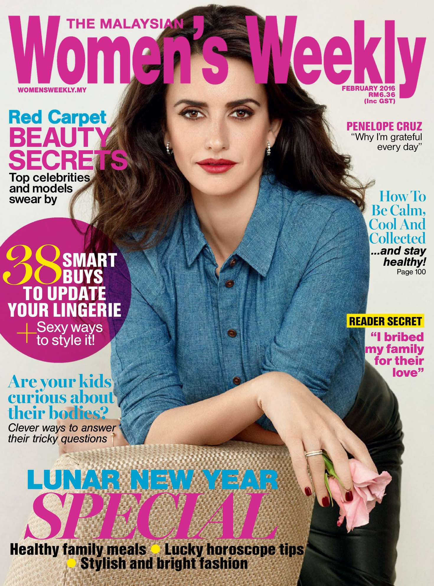 Penelope Cruz - The Malaysian Womens Weekly (February 2016)