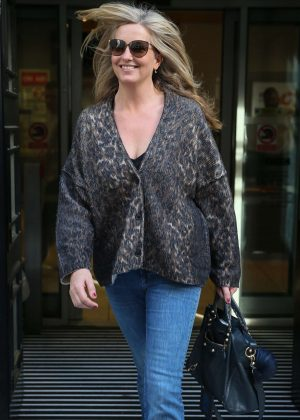Penny Lancaster - BBC Radio Two Studios in London