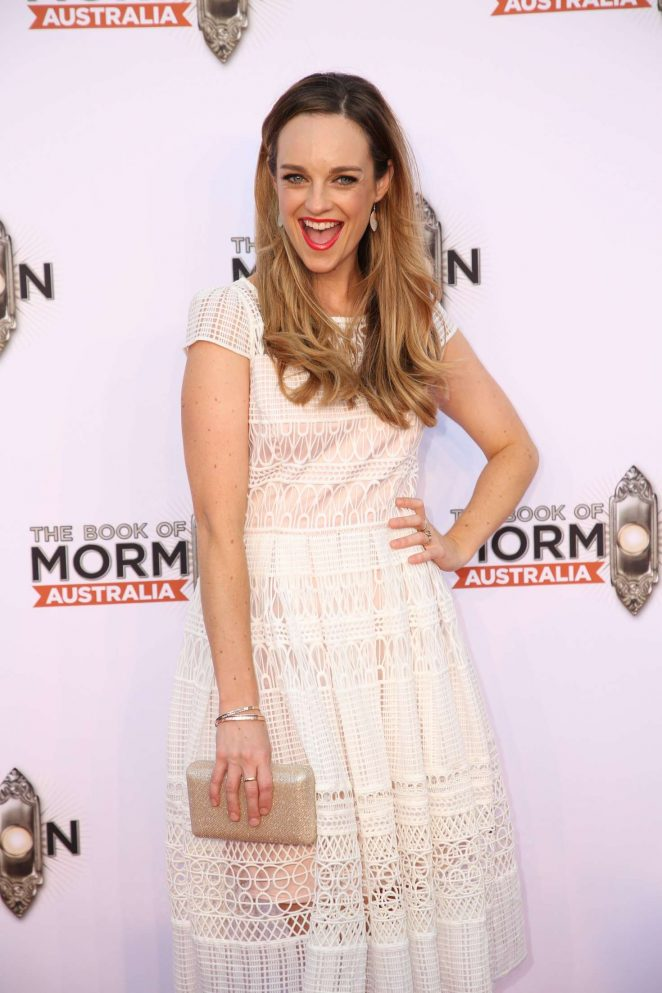 Penny McNamee – The Book of Mormon Opening Night in Sydney