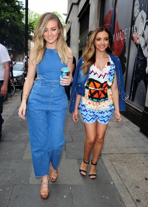 Perrie Edward & Jade Thirlwall - Out and about in London
