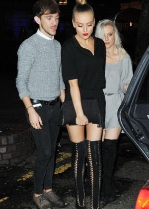Perrie Edwards - Celebrates Jade's 23rd Birthday in Newcastle