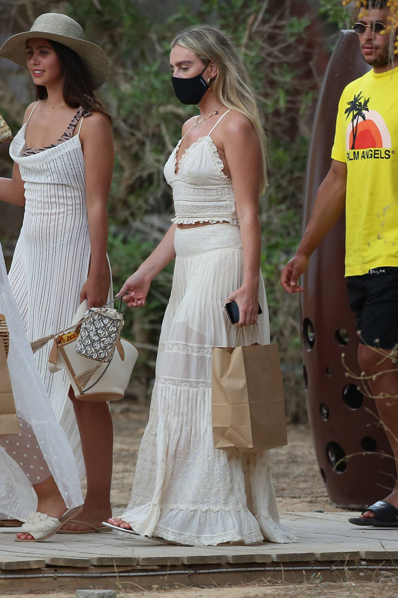 Perrie Edwards - Seen out in Ibiza