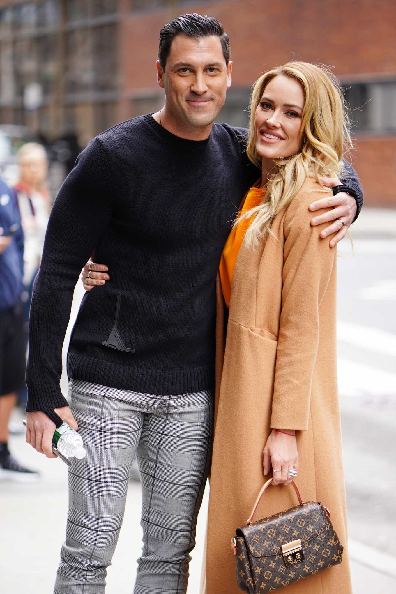 Peta Murgatroyd and Maksim Chmerkovskiy - Outside of BUILD in New York
