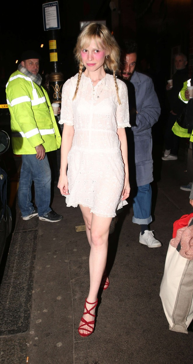 Petite Meller at the launch of 100 Wardour Street in London