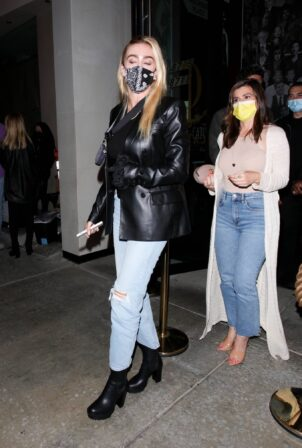 Petra Ecclestone - sports a Prada purse while out for a dinner at Catch LA in West Hollywood