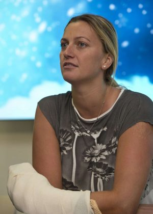 Petra Kvitova at Press Conference in Prague