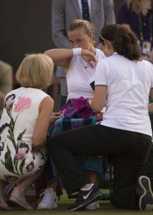 Petra Kvitova at Wimbledon Championships 2017 in London