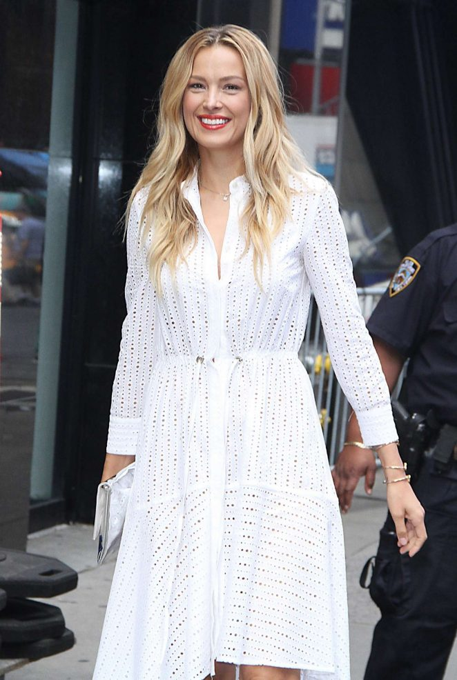 Petra Nemcova at Good Morning America in New York
