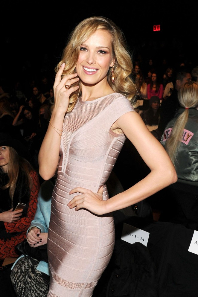 Petra Nemcova - Herve Leger By Max Azria Fashion Show 2015 in NYC
