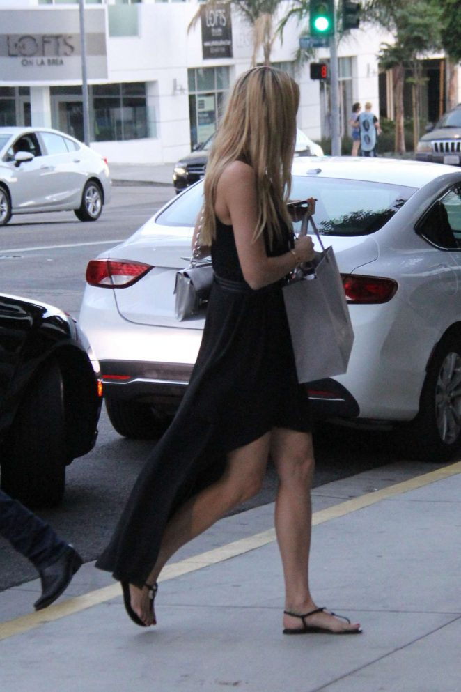 Petra Nemcova in Black Dress out in Los Angeles