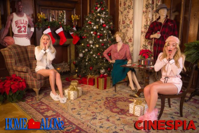 Peyton R List and Neriah Fisher - Cinespia Presents 'Home Alone' pajama party photo booth in LA
