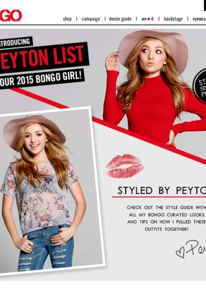 Peyton R List: Bongo Campaign 2015-21