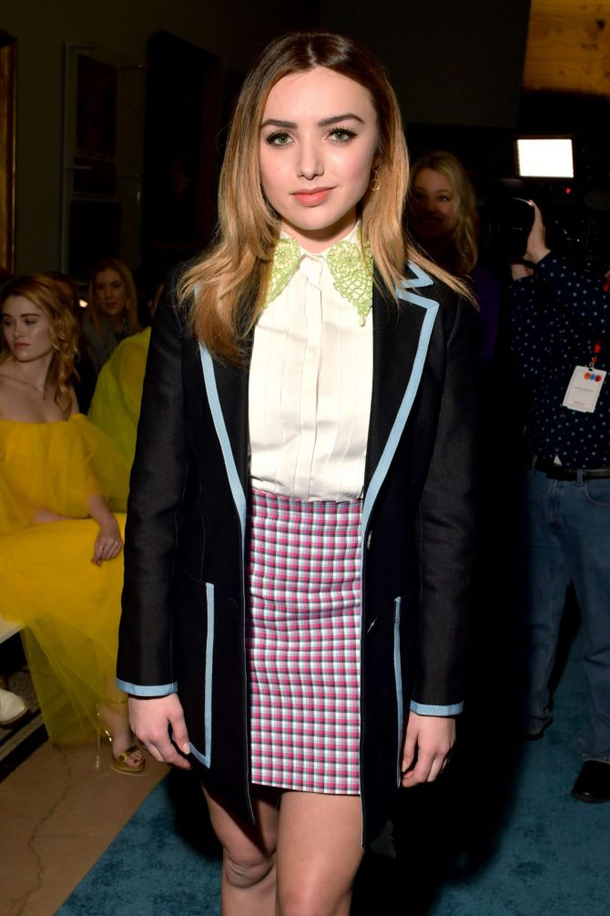 Peyton R List – Carolina Herrera Fashion Show in New York