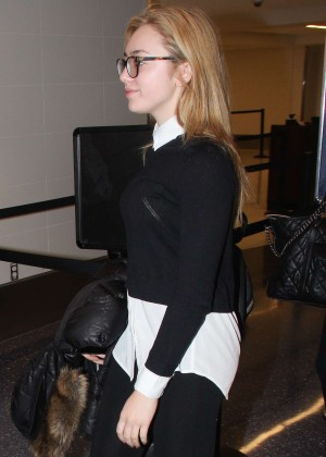 Peyton R List - Departing Airport